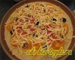 Быстрая пицца 3 слой