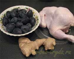 как приготовить Курица в имбирно-сливовом соусе