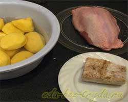 как приготовить Куриная грудка c картофелем