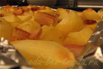 Куриная грудка c картофелем