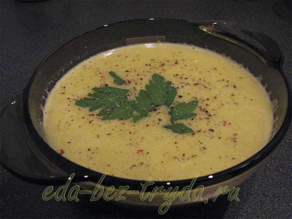 Суп-пюре с зеленым горошком рецепт с фото