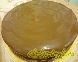 Шоколадно трюфельный торт 15 шаг
