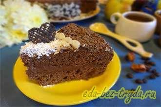 Шоколадно трюфельный торт