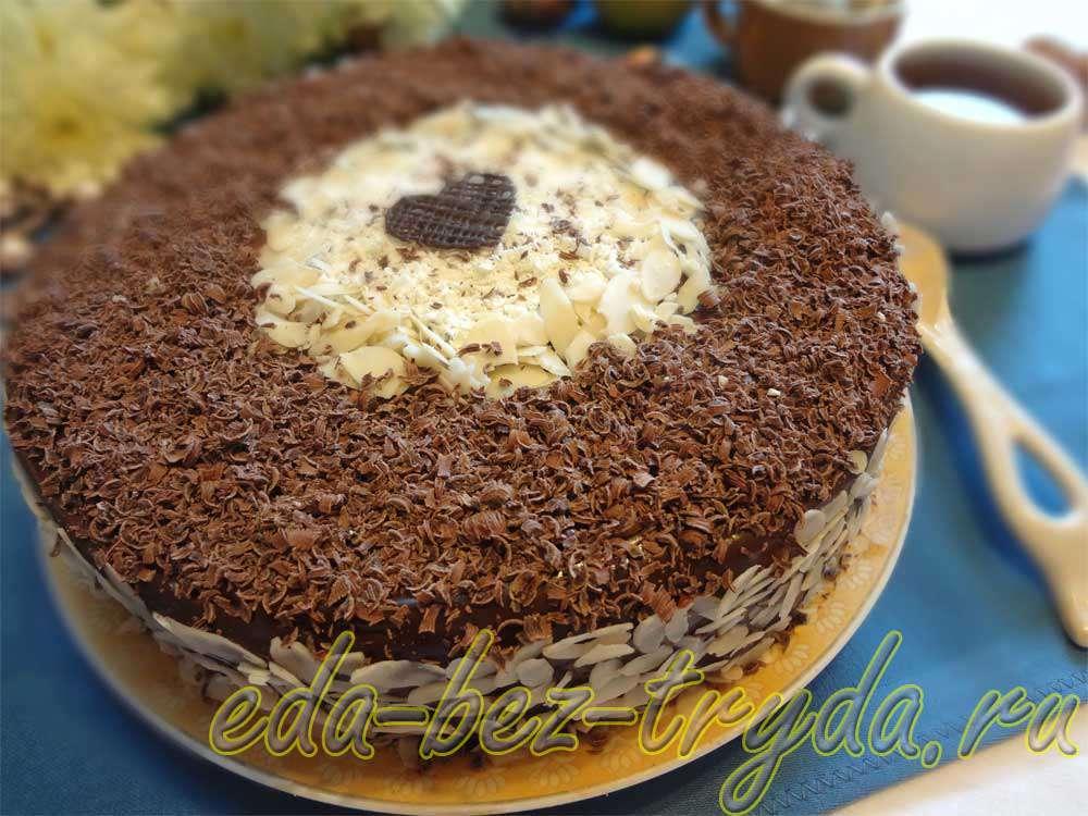 Шоколадно трюфельный торт рецепт с фото