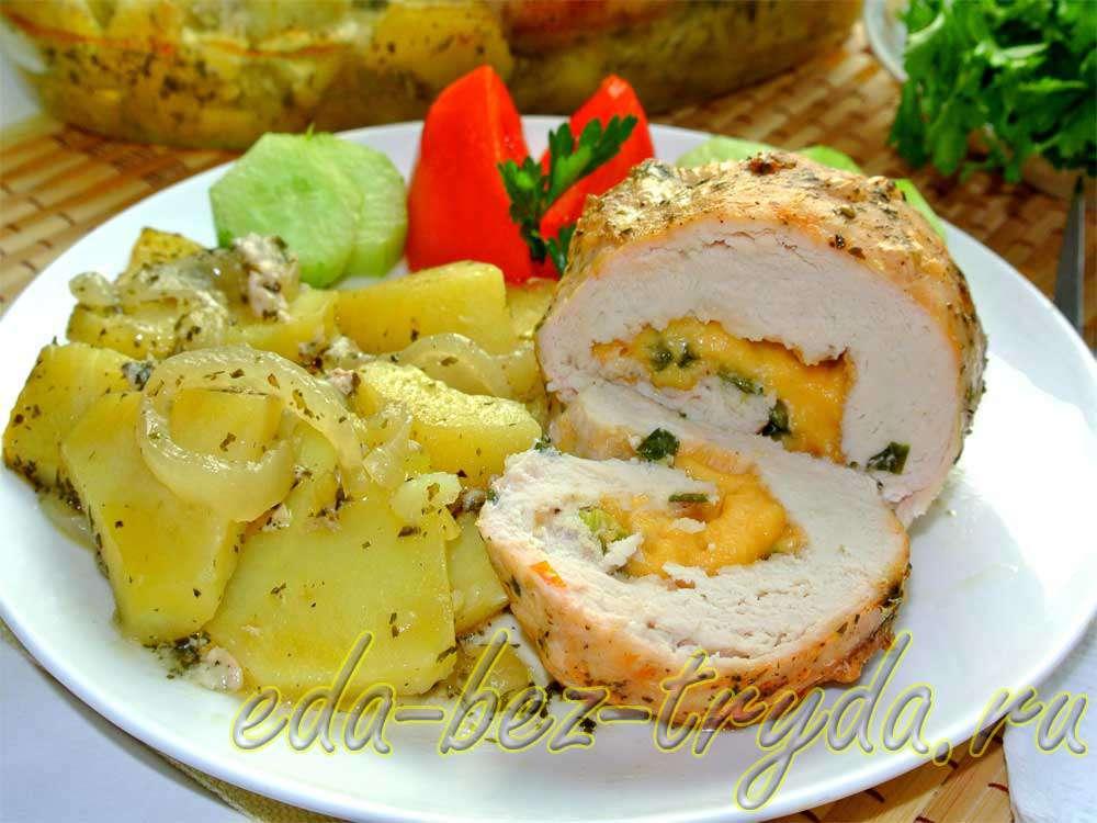 Куриные рулетики с сыром рецепт с фото