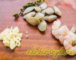 как приготовить Салат с креветками и моллюсками