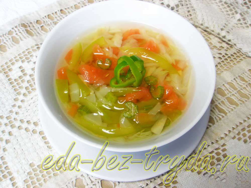 Сельдереевый суп рецепт с фото