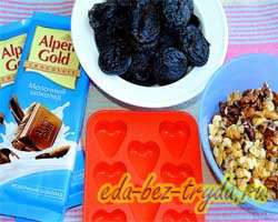 как приготовить Шоколадные конфеты с черносливом и орехами