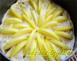 Яблочный пирог рецепт с фото 7