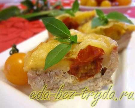 Рулладини с сыром и помидорами черри