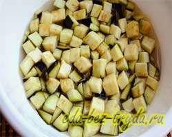 Теплый салат с баклажанами 2 шаг