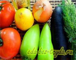 как приготовить Теплый салат с баклажанами