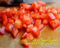 Теплый салат с баклажанами 4 шаг