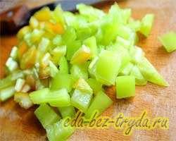 Теплый салат с баклажанами 6 шаг