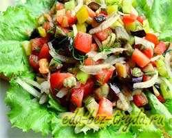 Теплый салат с баклажанами 12 шаг