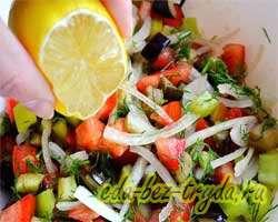 Теплый салат с баклажанами 10 шаг