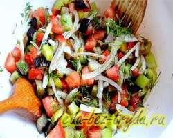 Теплый салат с баклажанами 9 шаг