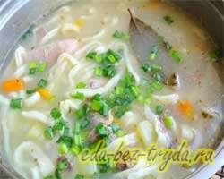 Суп с домашней лапшой 18 шаг