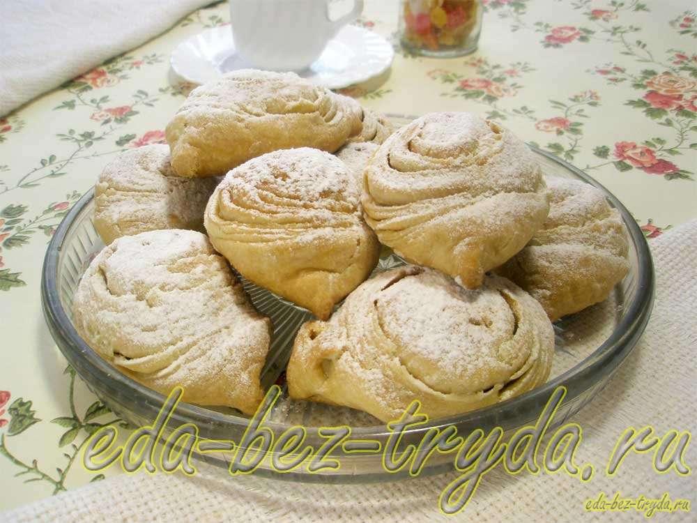 Слойки с ореховой начинкой рецепт с фото