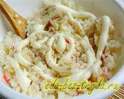 Салат с крабовыми палочками и рисом 6 шаг