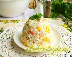 Салат с крабовыми палочками и рисом 8 шаг