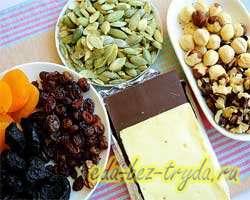 как приготовить Домашние шоколадные плитки с сухофруктами, орехами и семечками