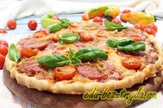 Острая пицца с салями