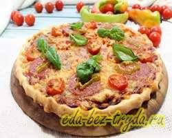 Пицца с салями 10 шаг