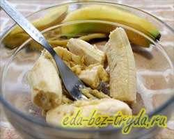 Сырники с бананами 1 шаг