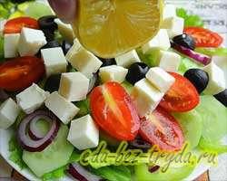Греческий салат 8 шаг