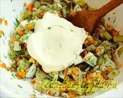 Салат с курицей 8 шаг