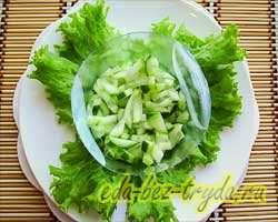 Салат с семгой 3 шаг
