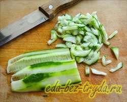 Салат с семгой 2 шаг