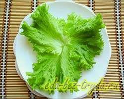 Салат с семгой 1 шаг