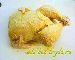 Фаршированная курица 6 шаг
