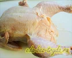 Фаршированная курица 4 шаг