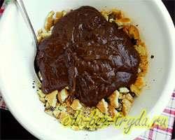 Шоколадная колбаска 10 шаг