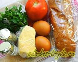как приготовить Гренки с яйцами и сыром