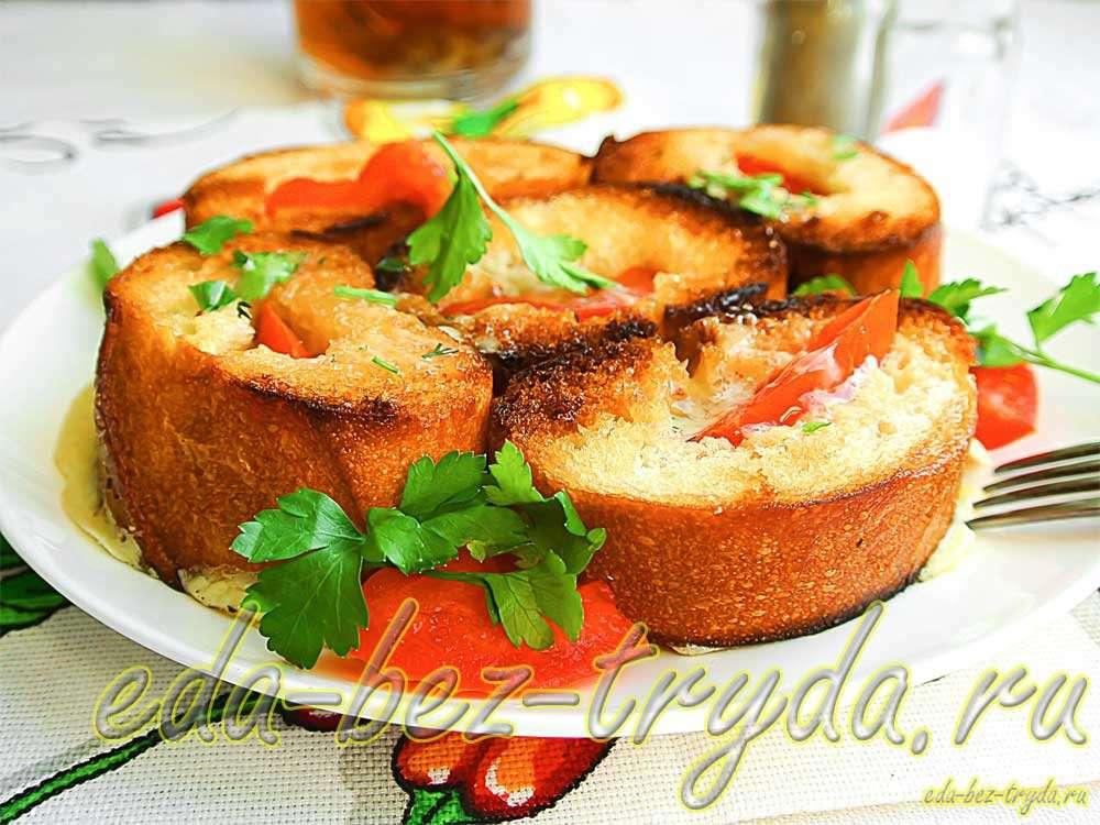 Гренки с яйцами и сыром рецепт с фото