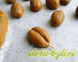 Печенье кофейные зерна 9 шаг