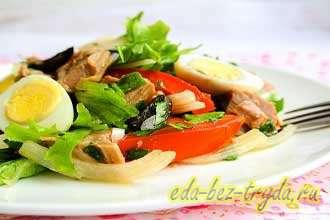 Салат с вареной говядиной