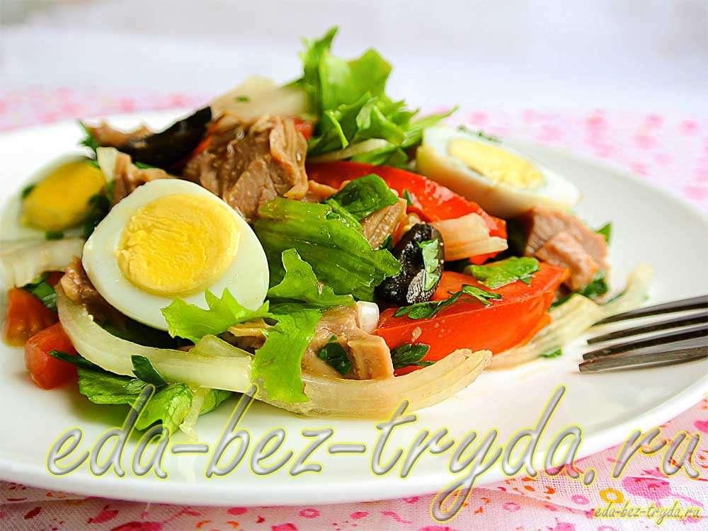 Салат с вареной говядиной рецепт с фото