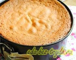 Торт бисквитный 8 шаг