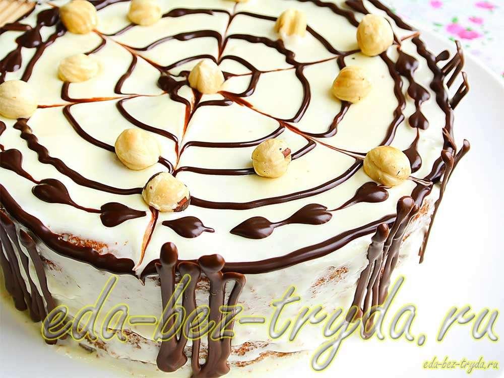 Торт бисквитный рецепт с фото