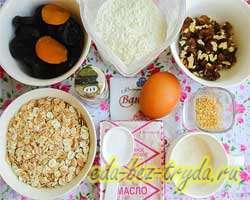 как приготовить Печенье «5 злаков» с орехами и сухофруктами
