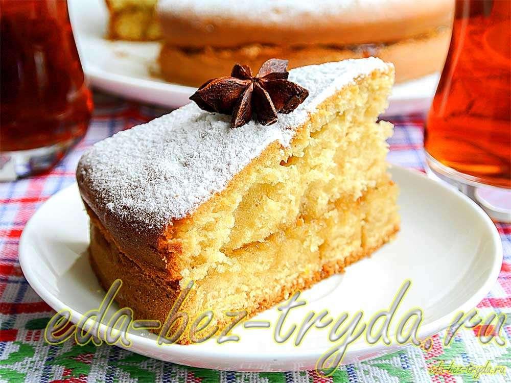 Пирог на простокваше рецепт с фото