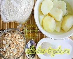 как приготовить Картофельный батон с хлопьями