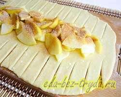 Творожный пирог с яблоками 10 шаг