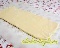 Яблочный пирог из слоеного теста 2 шаг