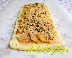 Яблочный пирог из слоеного теста 6 шаг